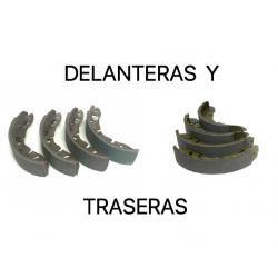 BALATAS / PATINES / BANDAS / CINTAS FRENOS DELANTEROS Y TRASEROS (JUEGO COMPLETO PARA LAS 4 RUEDAS)