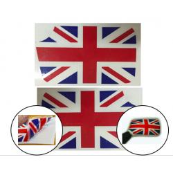 KIT ADHESIVOS PARA ESPEJOS ORIGINALES (PLASTICO) BANDERA UK (PAR)