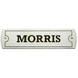 PLACA METALICA MORRIS 1x3.5'