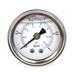 RELOJ PRESION DE BENCINA PSI 0-15 PSI (0-1 kg/cm2) 40mm 1/8