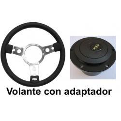 VOLANTE MOUNTEY CUERO (NO VINILO) MAS ADAPTADOR COMPLETO