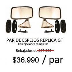 ESPEJOS LATERALES CLASSIC TIPO GT/PLANO, METALICO CROMADO. IZQUIERDO Y DERECHO