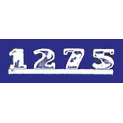 INSIGNIA TRASERA METALICA '1275'