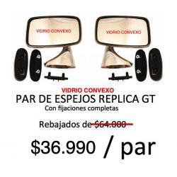 ESPEJOS LATERALES CLASSIC TIPO GT/CONVEXO, METALICO CROMADO. IZQUIERDO Y DERECHO