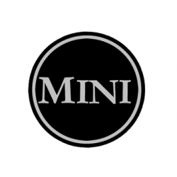 EMBLEMA 42MM MINI NEGRO (CENTRO LLANTA)